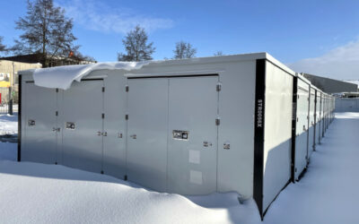 The Z-Box versus hours of falling snow